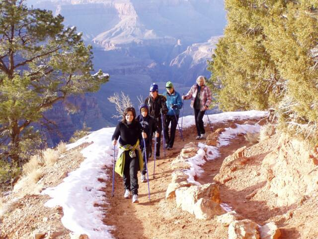 EXEL Nordic Walking Poles ideal for hiking and trekking in the Grand Canyon